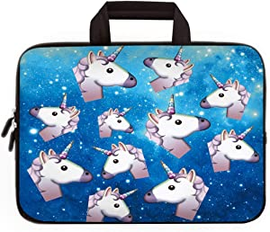 """11"""" 11.6"""" 12"""" 12.1"""" 12.5"""" inch Laptop Carrying Bag Chromebook Case Notebook Ultrabook Bag Tablet Cover Neoprene Sleeve Fit Apple Macbook Air Samsung Google Acer HP DELL Lenovo Asus (Many Unicorns)"""