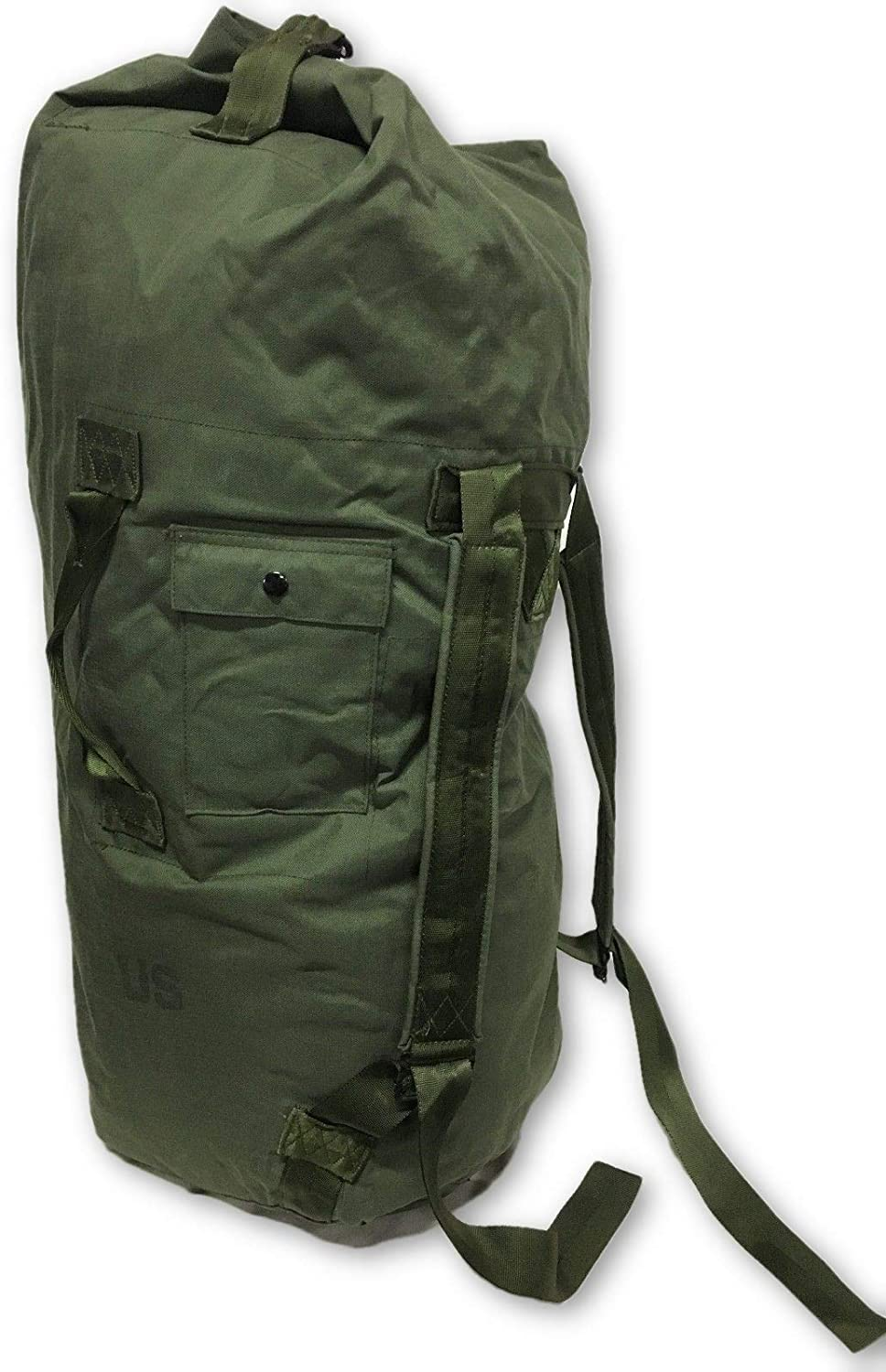 NEW USA Made Army Military Duffle Bag Sea Bag OD Green Top Load Shoulder Straps