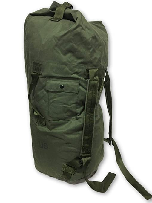 1677e01e5 Amazon.com: NEW USA Made Army Military Duffle Bag Sea Bag OD Green Top Load  Shoulder Straps: Sports & Outdoors