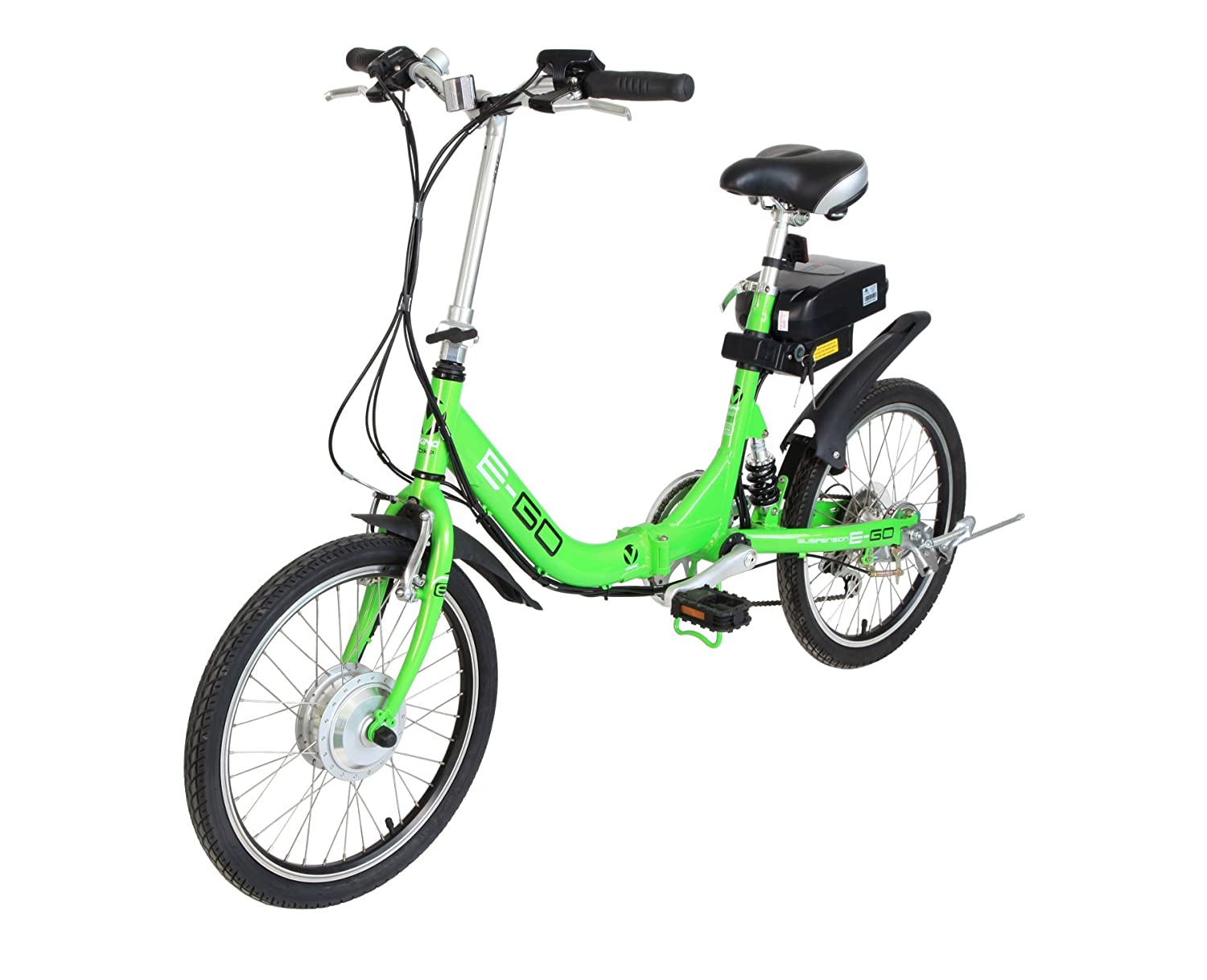 Viking E-G0 6 Speed Folding E Bike with Electrical Assist - (Green, 15 Inch, 20 Inch)