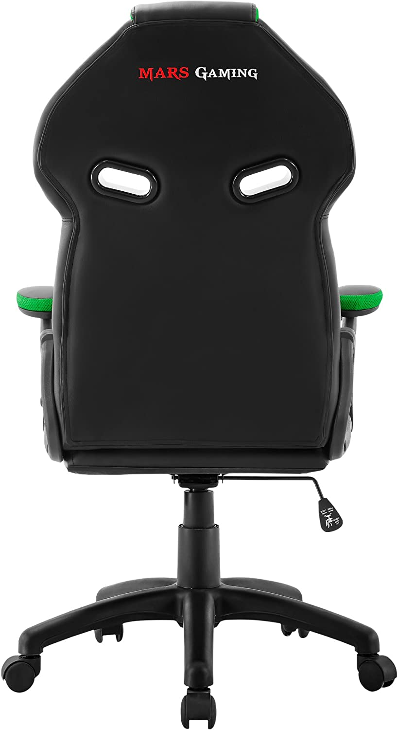 Verde Mars Gaming MGC118BG Professional Gaming Chair Colorazione Black Green X-Large Finta Pelle