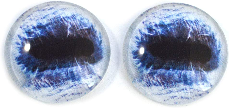 Sculptures Blue Horse Glass Eyes Realistic Animal Pair for Art Dolls Props,#37