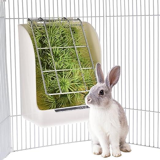 KIOPS Comedero para Conejos, Cobaya,Animal Pequeño,Resistente A La ...