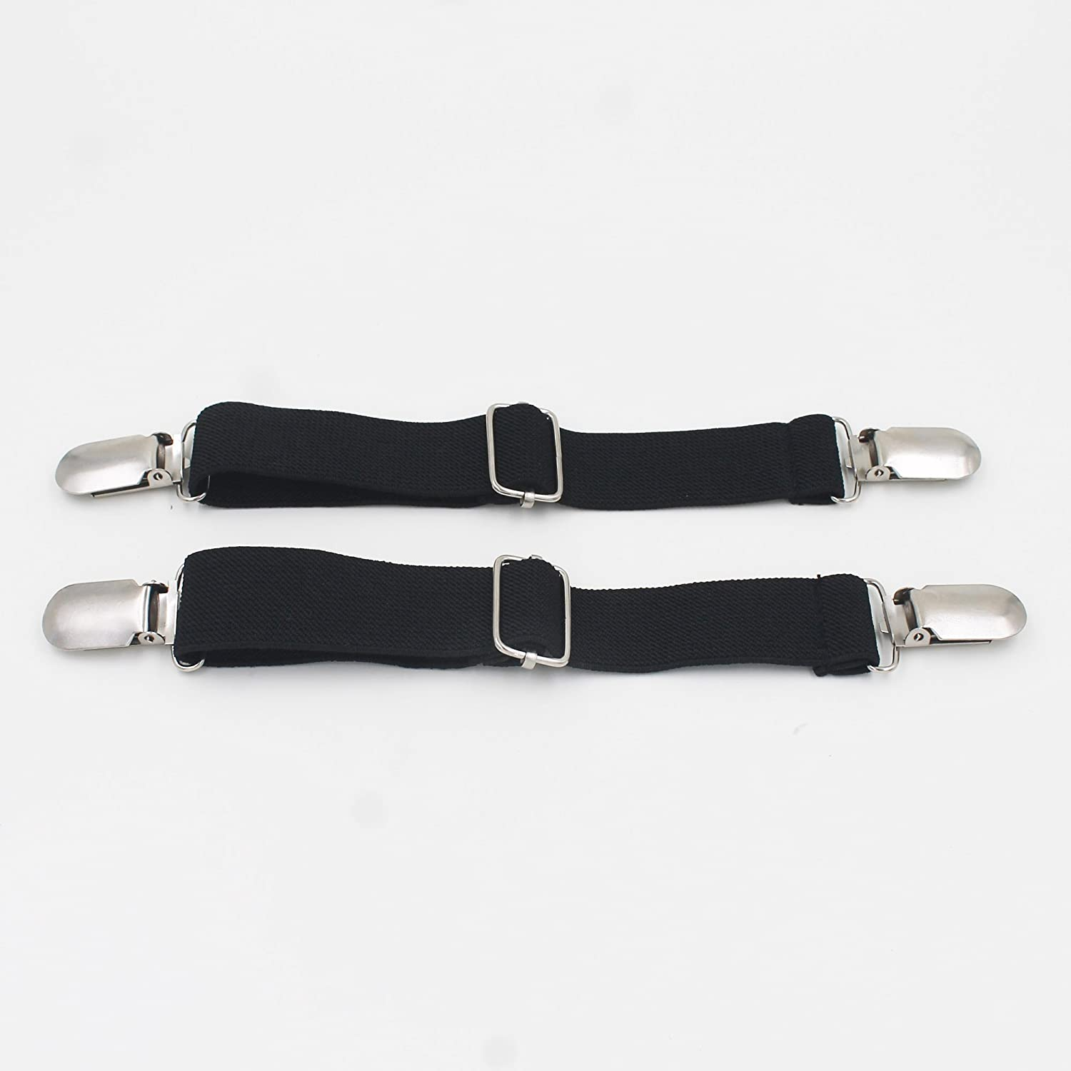 2-pc Adjustable Elastic Motorcycle Biker Elastic Boot Straps Pant Clips Stirrups Jod Clips Estore Ship From China