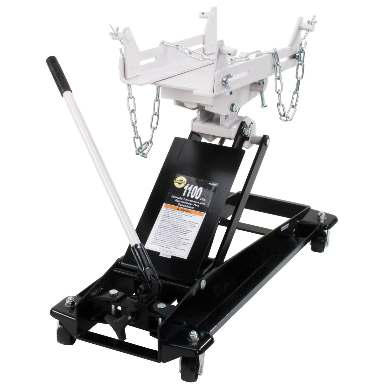 Amazon.com: Omega 41100C Black Low Profile Hydraulic Transmission Jack - 1100 lb. Capacity: Automotive