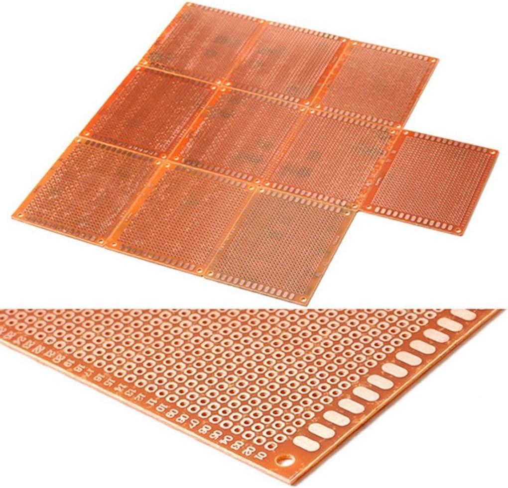 Pandiki 10pcs//set Printed PCB Circuit Board DIY Soldering Plate Strip Breadboard Electronic Stripboard