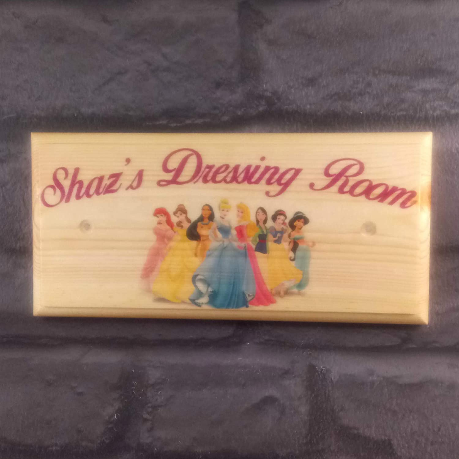 Desconocido Placa Personalizable de Princesa Disney, Cartel ...