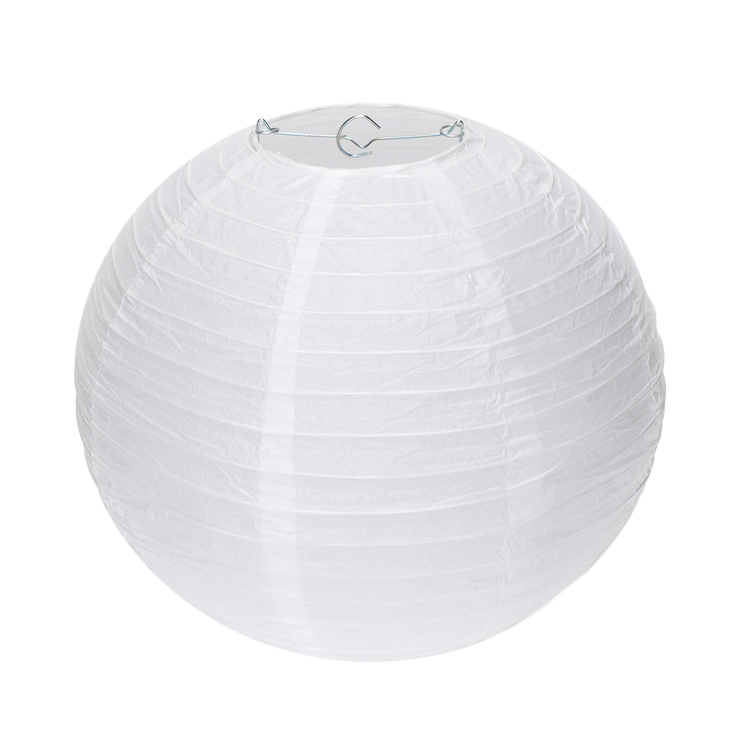 Special Feelings 25 Pack White Paper Lanterns Set (Assorted Sizes of 6, 8, 10, 12 Inch) for Weddings Birthday Parties, Baby Showers, Classroom Decoration and More and More, by Special Feelings (Image #8)