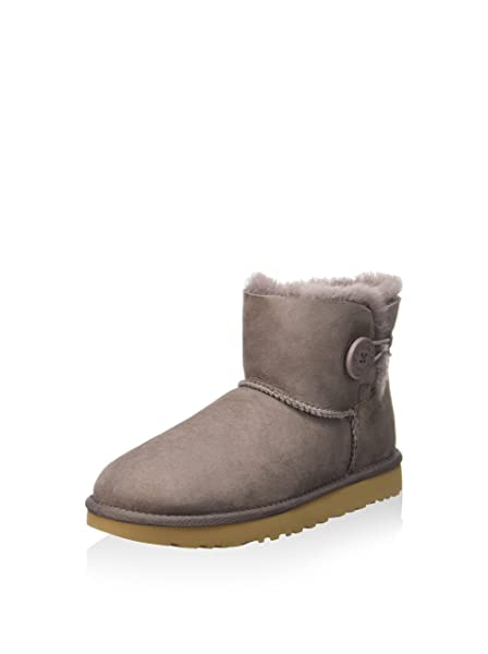 96d81046e59 Amazon.com | UGG Women's Mini Bailey Button II Stormy Grey Boot ...