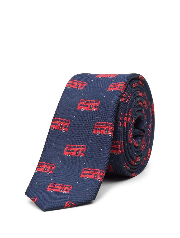 Paisley of London Kids Slim Tie Boys Royal Bus Printed Necktie One Size