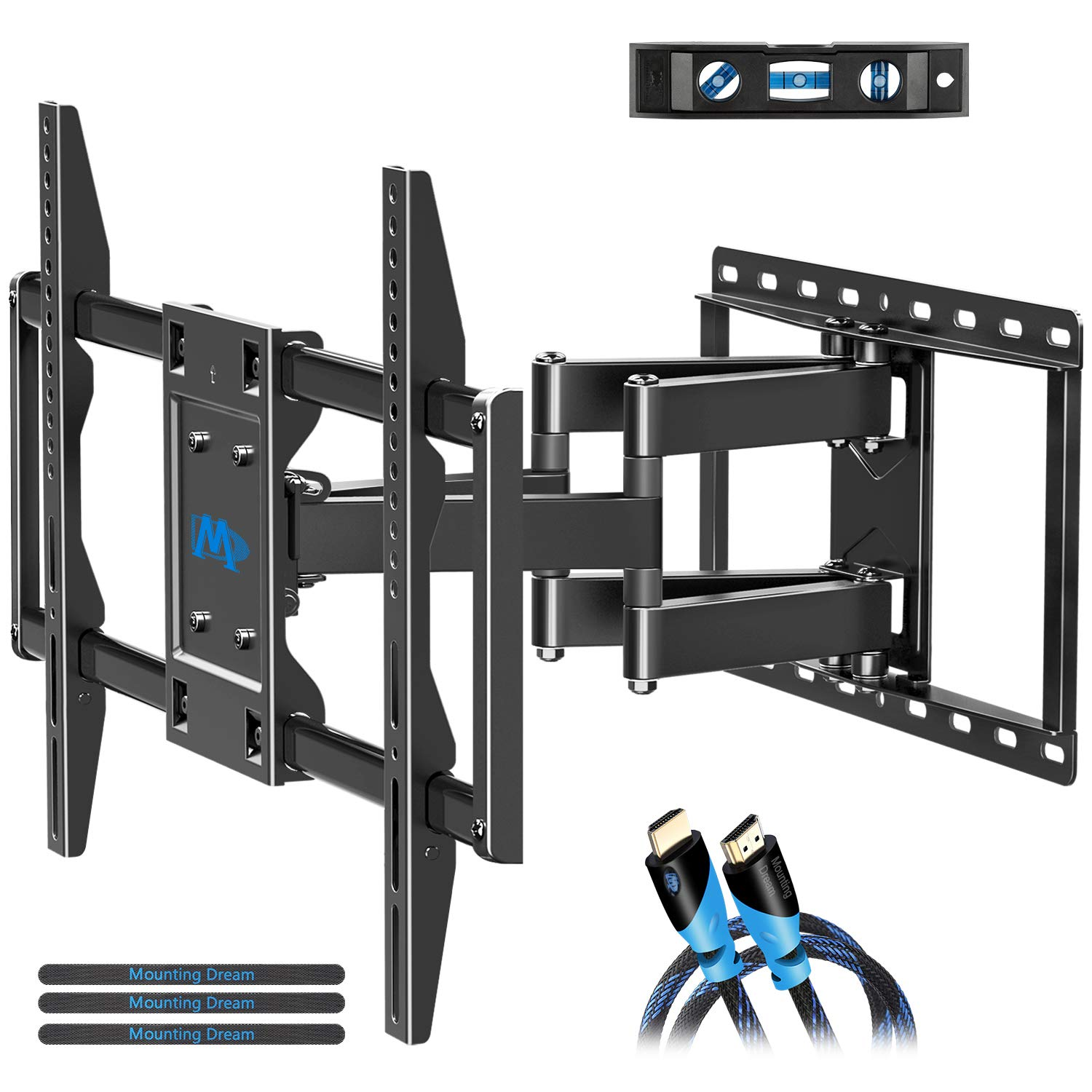 Mounting Dream TV Mount for Most 42-70 inch Flat Screen TVs Up to 100 lbs, Full Motion TV Wall Mount with Swivel Articulating 6 Arms, TV Wall Mounts Fit 12-16'' Wood Studs, Max VESA 600x400mm by Mounting Dream