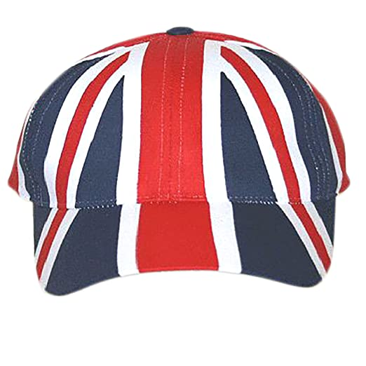 17014e6a36f England Baseball Cap Union Jack Cap with adjustable strap (Adjustable)  (Red Navy