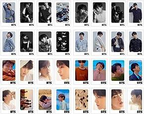 Juego de tarjetas postales BTS Love Yourself Tear de 32 piezas con 10 clips de fotos de 4 metros de cuerda