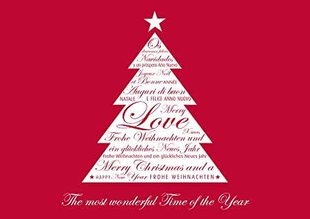 E Cards Weihnachten.Available In Sets Of 1 4 And 8 Folding Red Christmas Card Greeting