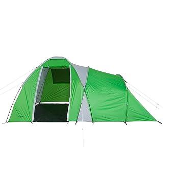 098e80de04478b Fridani Camping-Zelt DTG 500 Kuppelzelt mit Schlafkabine für 5 Personen  Outdoor Familienzelt mit Wohnraum