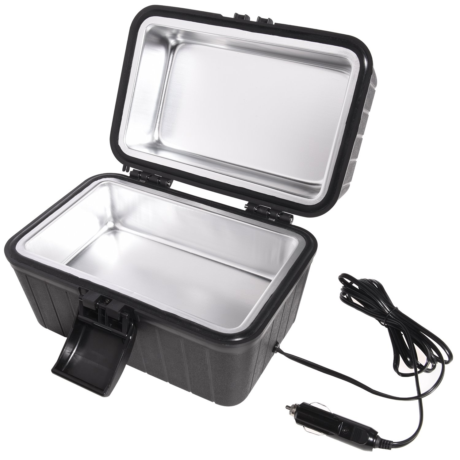 Ivation Car and RV Lunch Box with 12 Volt Powered Stove – Plugs Into Car Cigarette Lighter Or Any 12V Source – Quickly Heats Food Up to 300-Degrees Fahrenheit