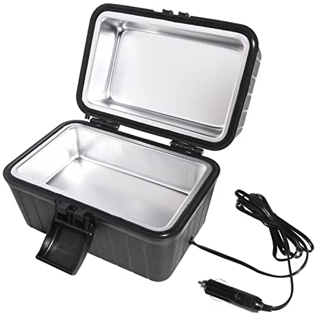 Ivation Car and RV Lunch Box with 12 Volt Powered Stove – Plugs Into Car  Cigarette 612231cb829f9