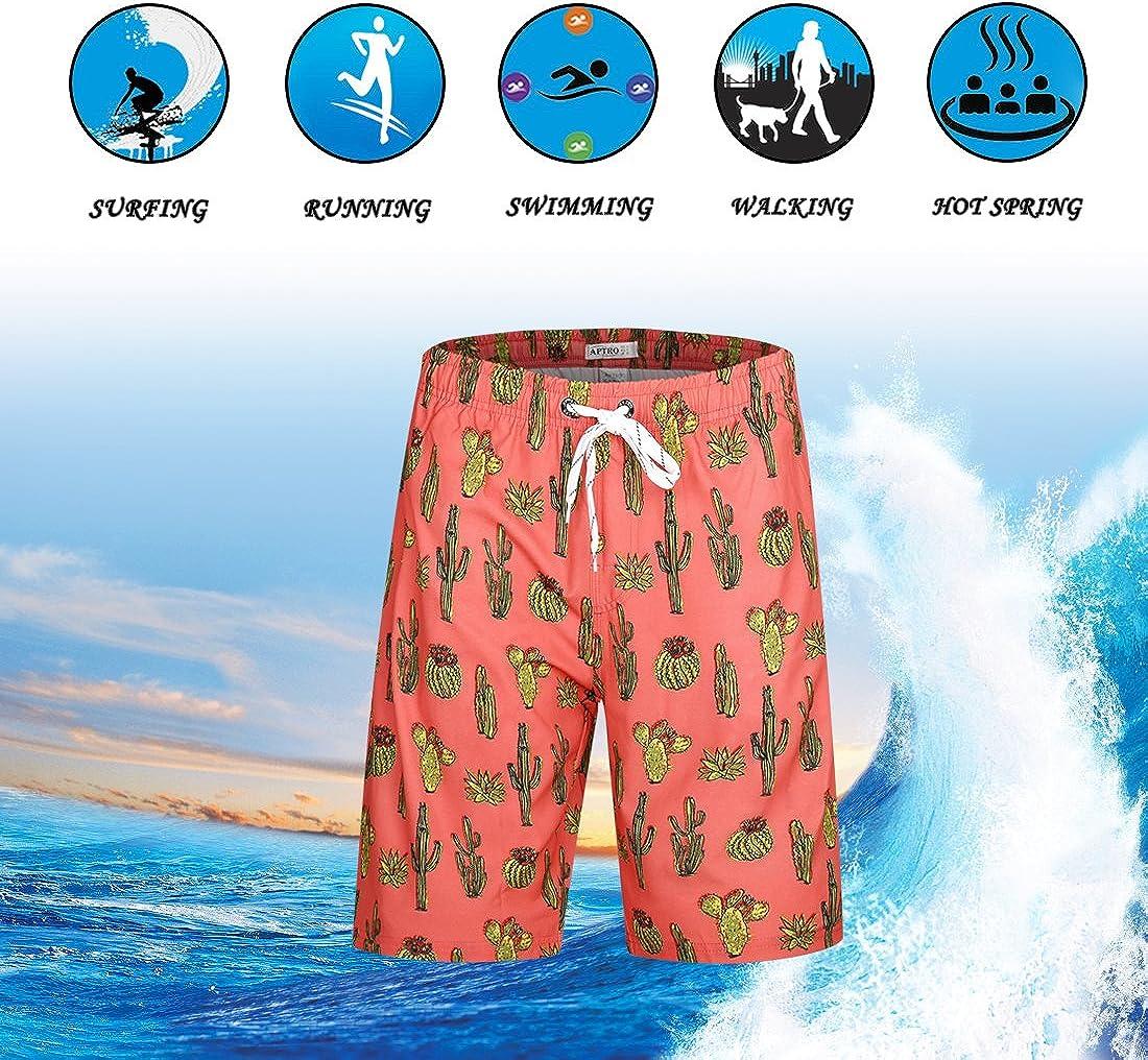 APTRO Mens Quick Dry Swim Trunks with Pockets Swimwear Beach Board Shorts