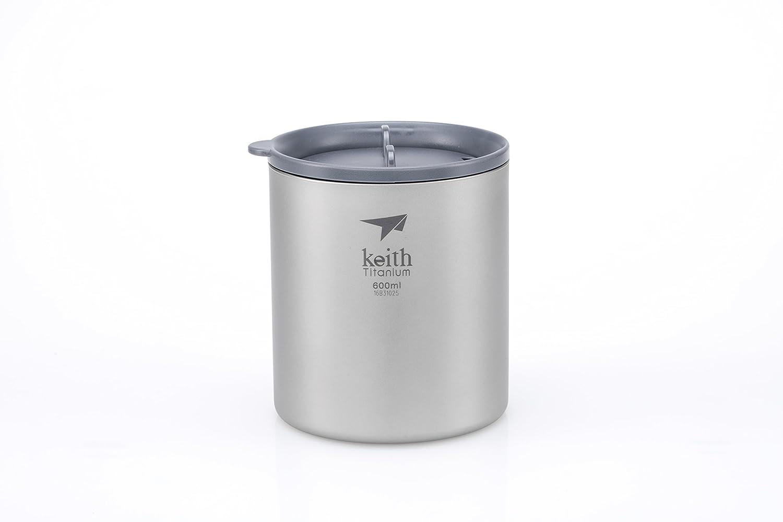 Keithチタンti3306 double-wall Mug with Lid – 20.3 FL OZ   B01MEG8E1S