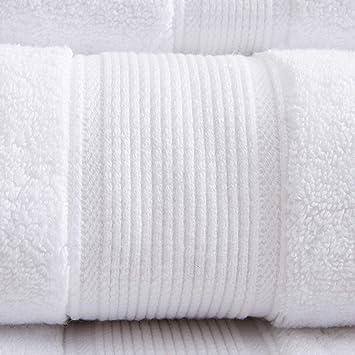 5 toallas de baño 100x180 cm 500gr / m² algodón egipcio del hotel White 100_x_180_cm: Amazon.es: Hogar