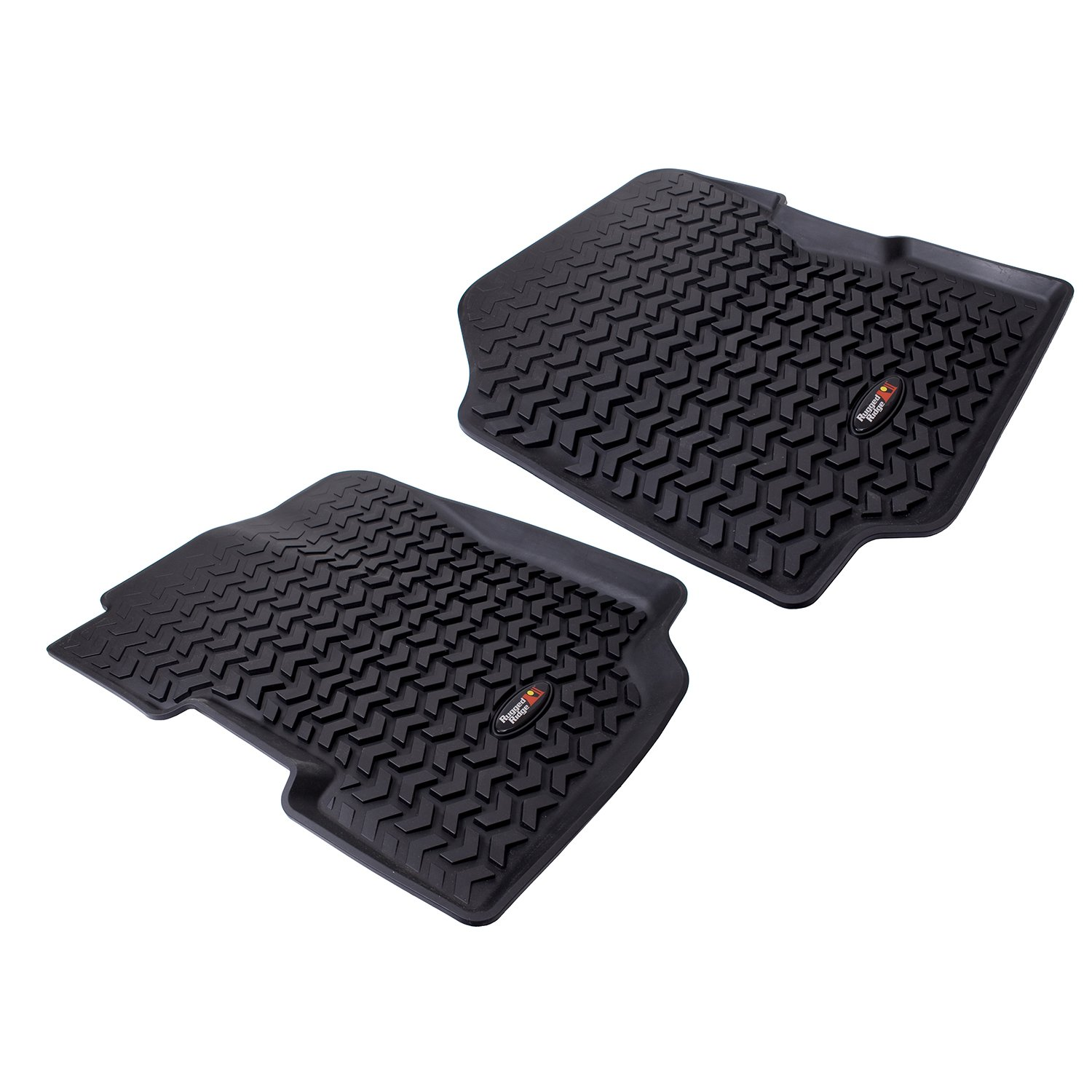 Rugged Ridge 12920.21 All-Terrain Black Front Floor Liner Pack of 2