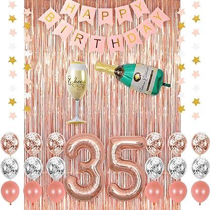 Amazon.com: Rosa oro 30 cumpleaños fiesta decoraciones ...