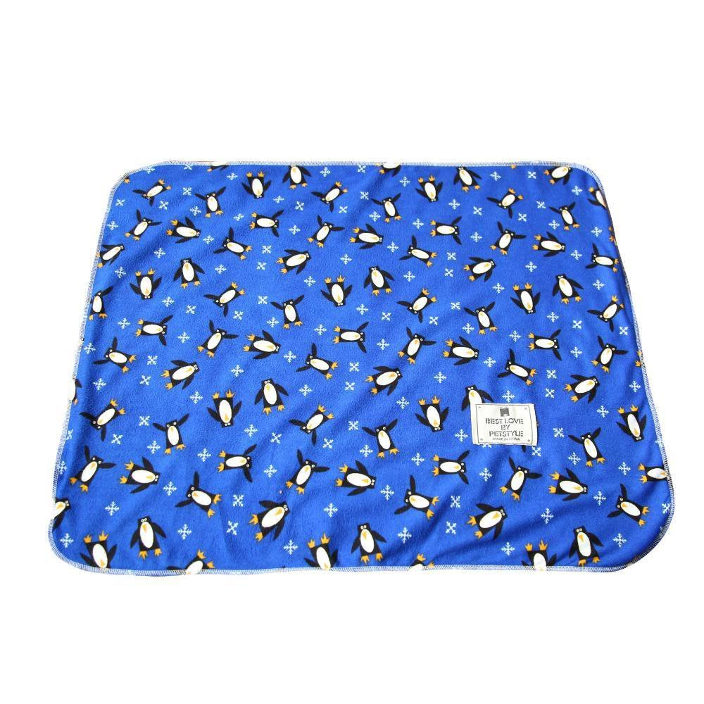 B YunYilian Pet Bolster Dog Bed Comfort Cartoon Blanket Pet Mat Kennel, 47  57cm (color   B)