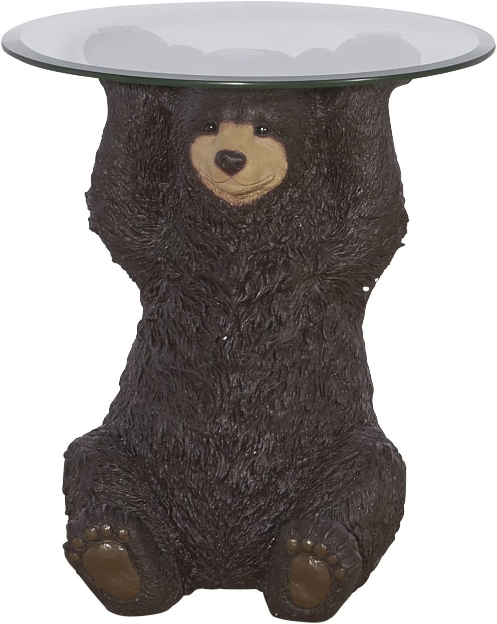 Powell Furniture 16C2000 Barney Bear, Dark Brown Accent Table