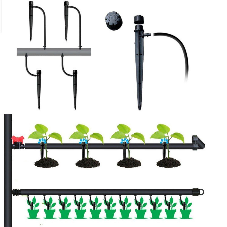 rescozy 50 Pcs Adjustable Flow Irrigation Drippers 360 Degree Emitter Drip System