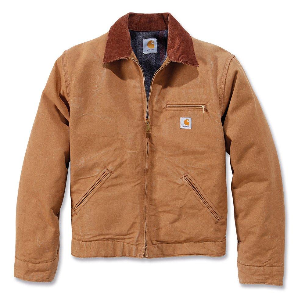 Carhartt workwear EJ001 - Chaqueta de trabajo con forro de lana detroit como l, marrón,