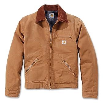 wholesale outlet performance sportswear better Carhartt .EJ001.BRN.S006 Duck Detroit Jacket, Large, Brown