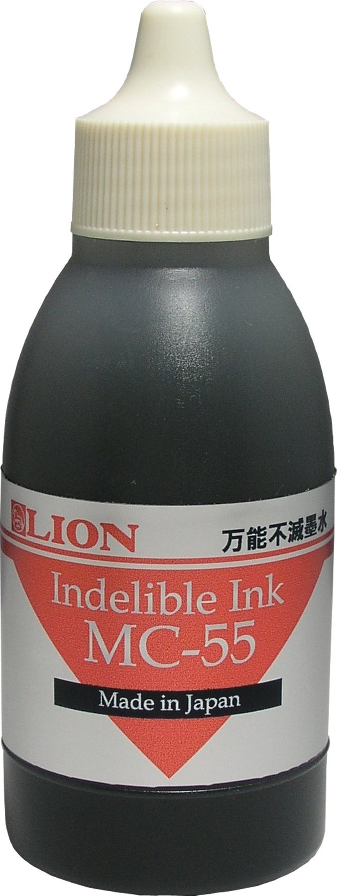 Lion Fast Drying Industrial Ink, (also for Rubber Faced Wheel Numbering Machine MM-21), Black, 1 Ink Bottle (MC-55-BK)