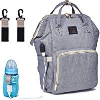 BabyMemory Diaper Bag Backpack, Large Waterproof Mommy Back Pack Stylish Maternity Travel Nappy Bags for Mom and Dad …