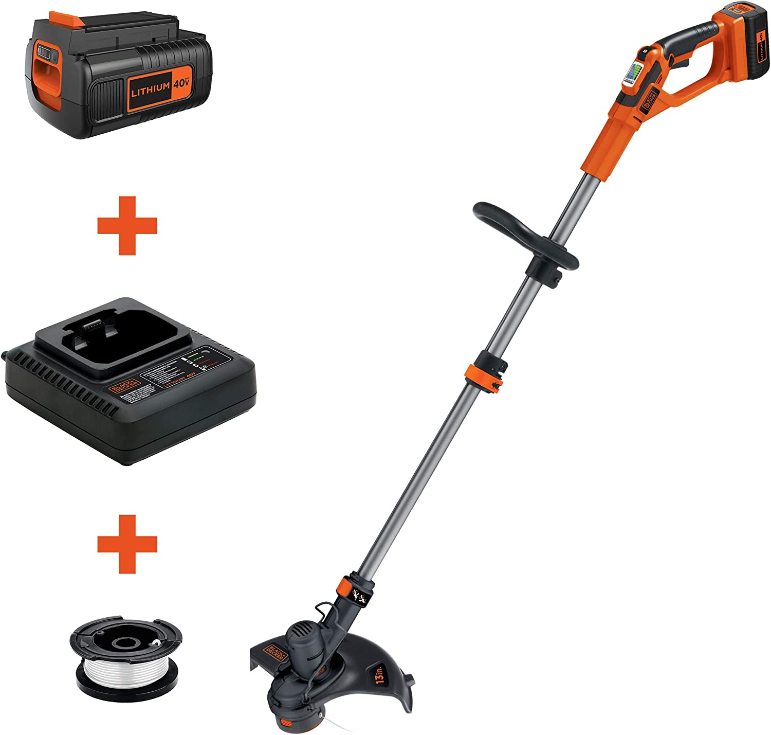 BLACK+DECKER (LST136) 40V MAX String Trimmer / Edger, 13-Inch