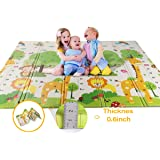 WV WONDER VIEW Baby Playmat Crawling Mat Folding Mat, Doble Side Portable Colorful and Waterproof Playmat for Kids Baby…