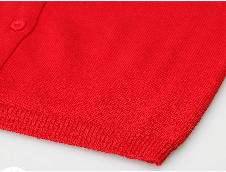De feuilles Baby Strickjacke M/ädchen Langarm Pullover mit Kn/öpfe Kinder Cardigan Einfarbig Stick Jacke