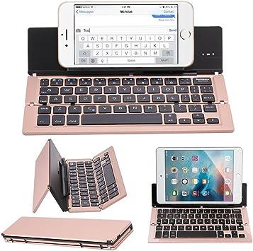 Plegable Bluetooth Teclado, teclado inalámbrico universal portátil ...