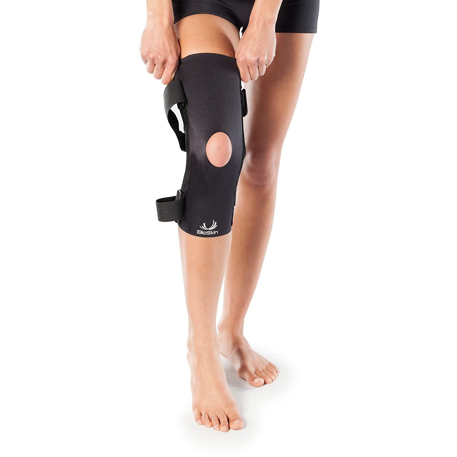 78e96c5fc0 Amazon.com: Wrap Around Compression Supportive Knee Brace for Patellofemoral  Pain and Patella Tracking Disorders - Q Brace by BioSkin (XXL): Health ...