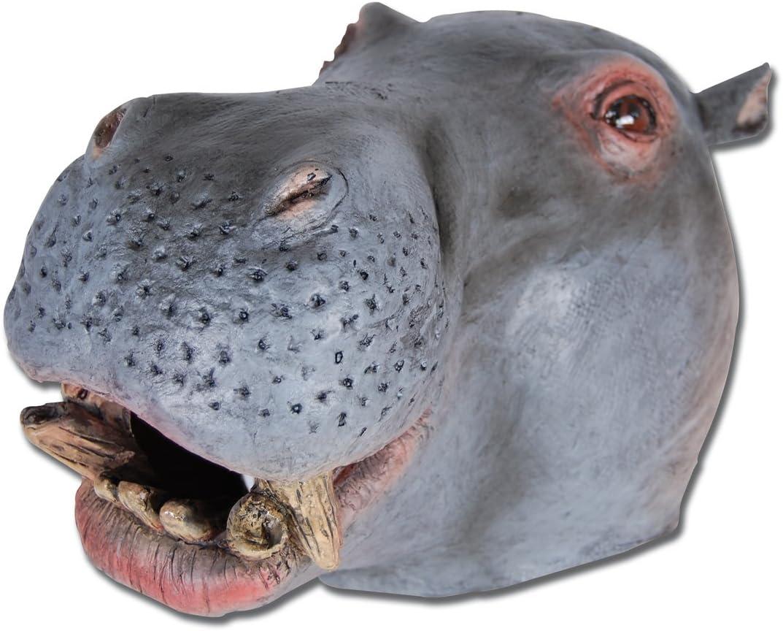 DELUXE QUALITY HIPPOPOTAMUS HIPPO ADULT LATEX OVERHEAD ANIMAL MASK-FUN@HALLOWEEN
