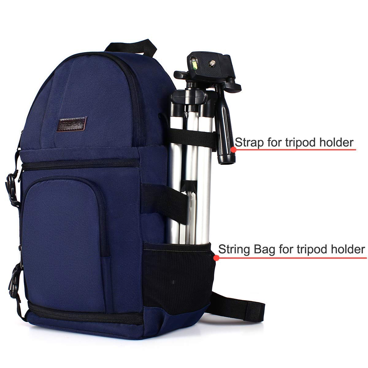 Nikon DSLR//SLR//Mirrorless Case Water Repellent Shockproof Backpack with Adjustable Crossbody Strap and Removable Modular Inserts Compatible with Canon MOSISO Camera Sling Bag Sony etc Navy Blue