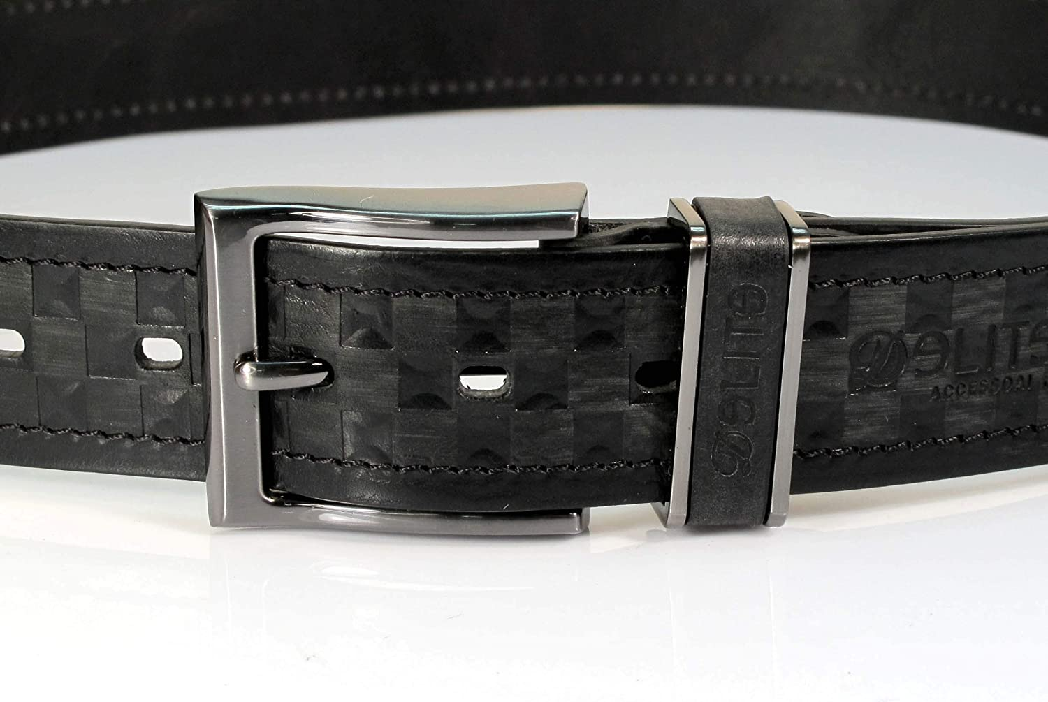 Mens Real Genuine Leather Black Belt 1.5 Wide S-XL Thick Long Casual Jeans UM4