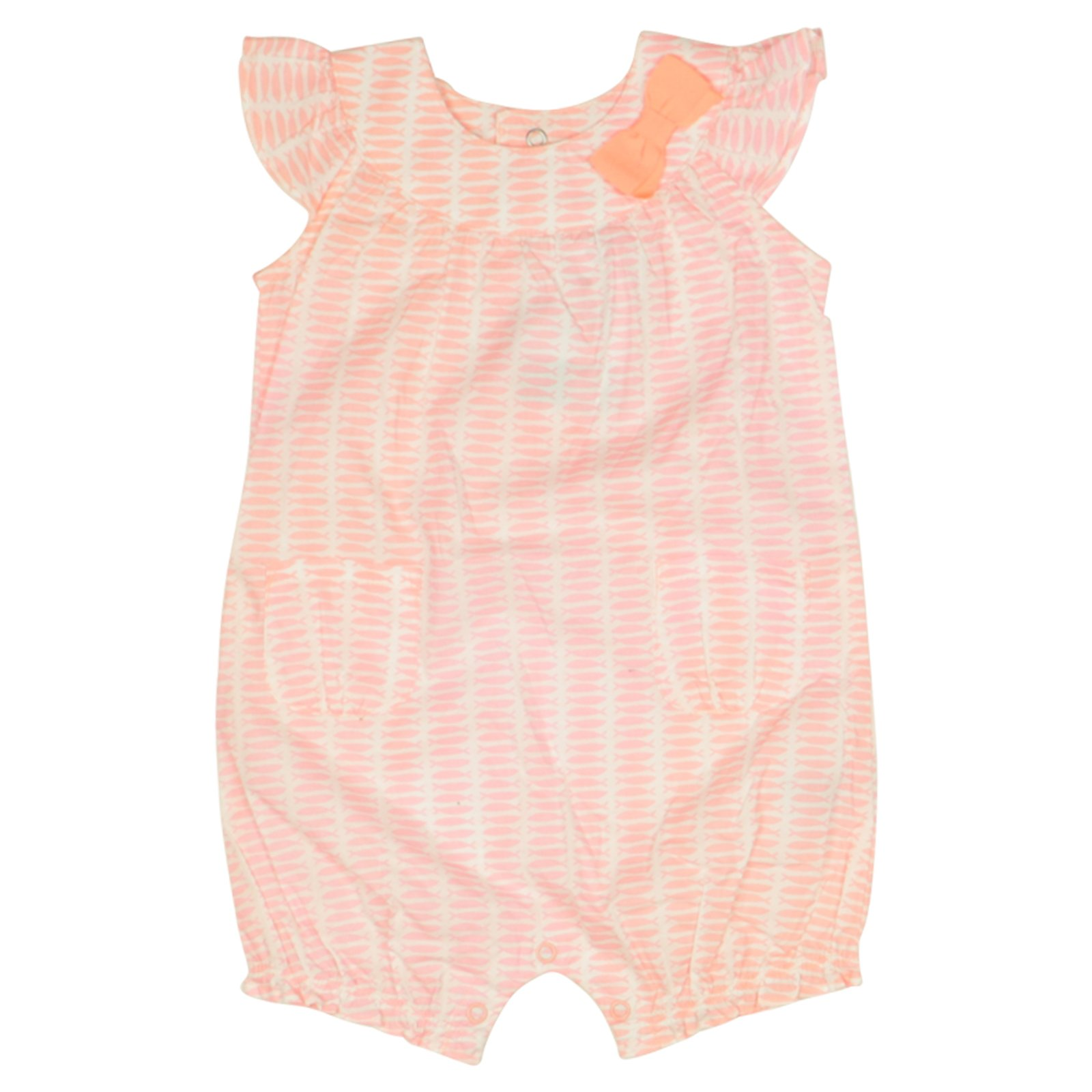 Carters Girls One-Piece Romper 12 Months Pink