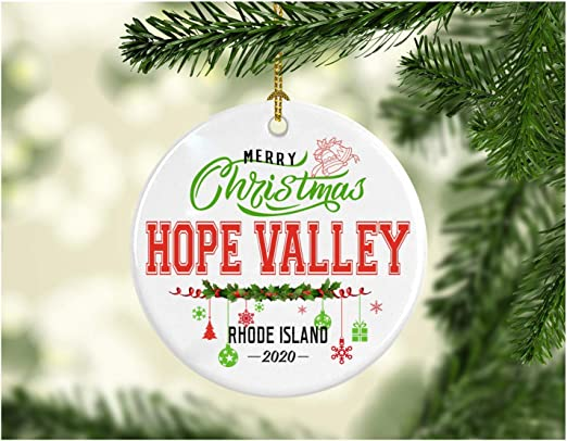 Will We Have A White Christmas In 2020 Rhode Island Amazon.com: Christmas Decorations Tree Ornament   Gifts Hometown