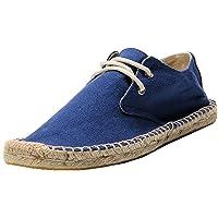 Alpargatas para Hombre, Zapatos de Lona con Cordones de Verano para Caminar, Zapatos de conducción Modernos, Zapatos…
