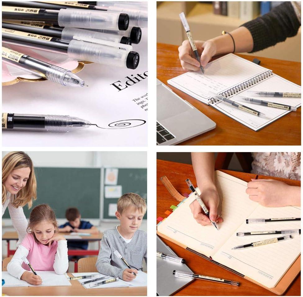 SUNSHINETEK 0.35 mm 12 Pcs Gel Ink Pen Extra-Fine Ballpoint Pen Black