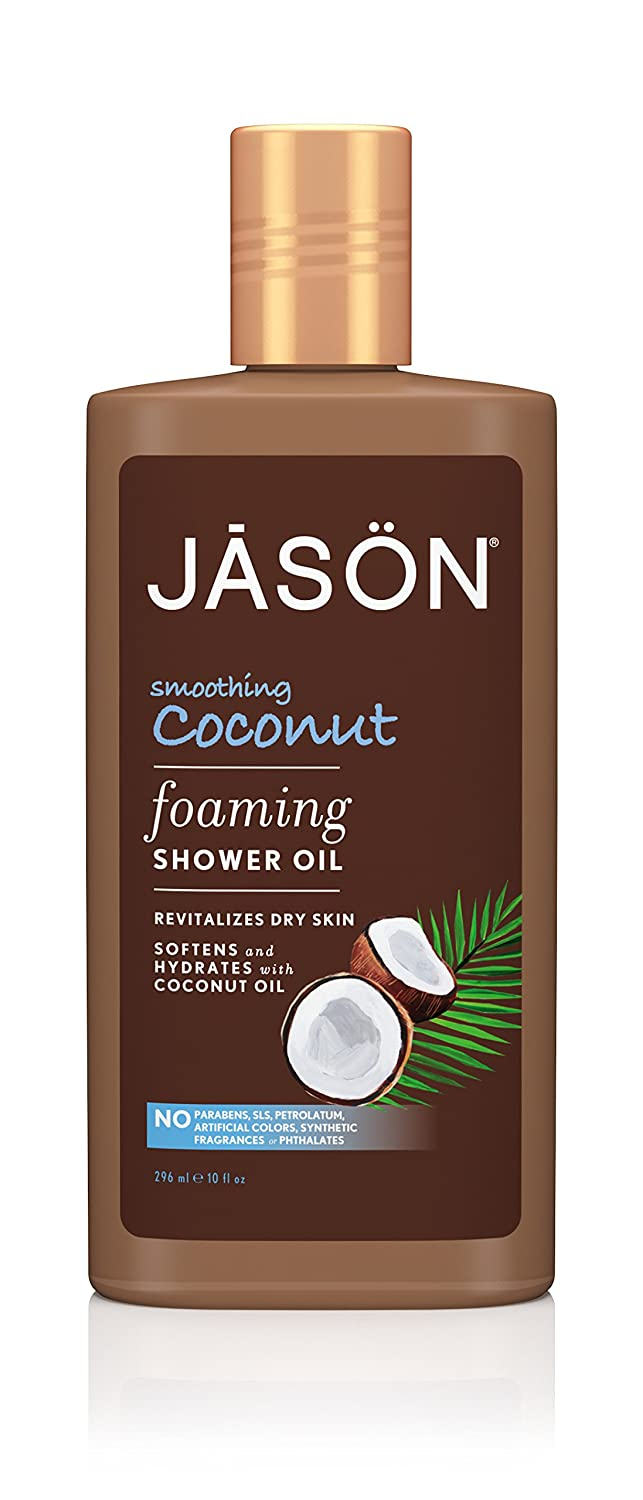 Jason Foaming Shower Oil, Smoothing Coconut, 10 Fluid Ounce
