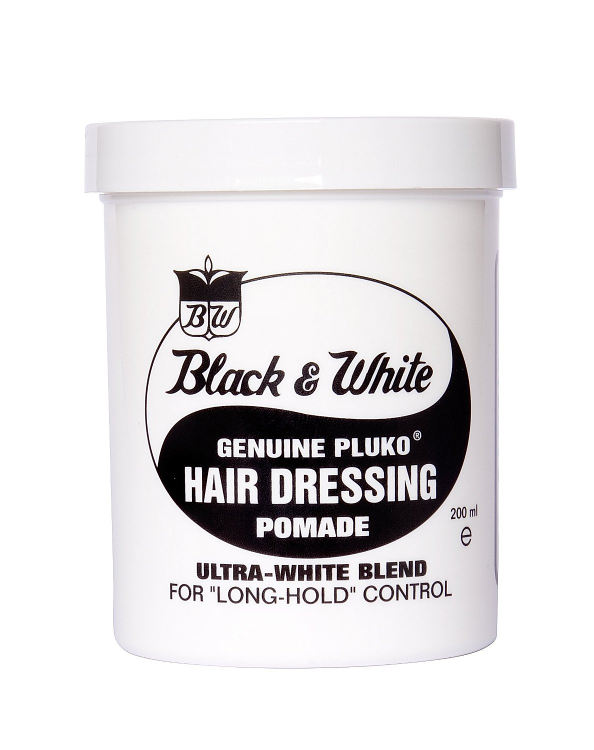 Black and White Pluko Hair Dressing Pomade 200ml Black & White BKWH200