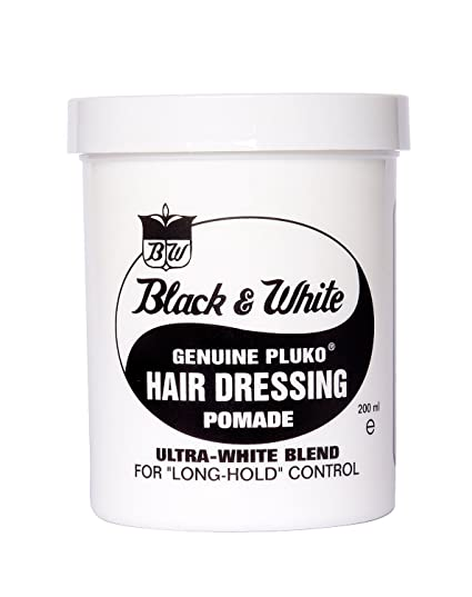 Black and White Pluko Hair Dressing Pomade 200ml