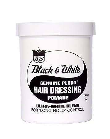 Amazon Black White Genuine Pluko Hair Dressing Pomade Ultra