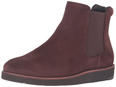 Johnston & Murphy Women's Bree Gore Ankle Rain Boot, Brown, ...